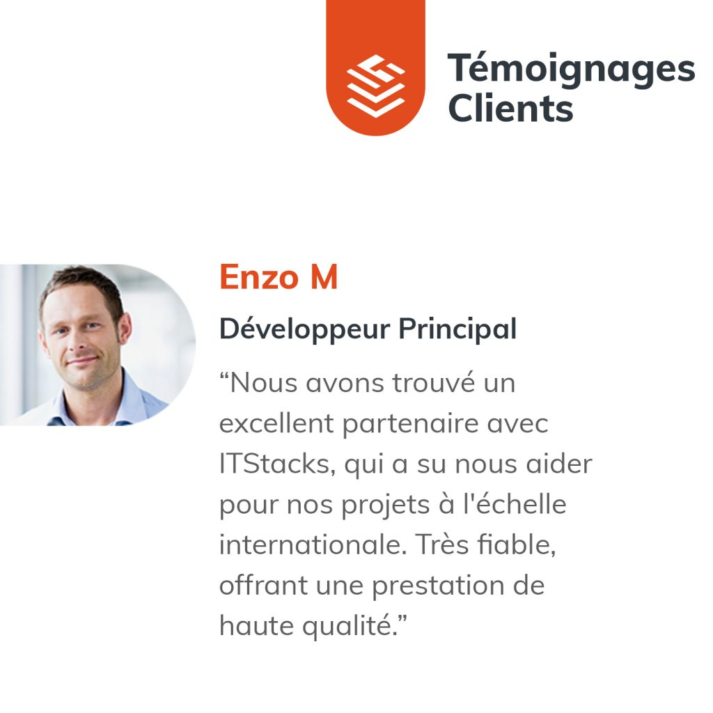 IT Outsourcing Informatique Client Testimonial Enzo 02 FR 1