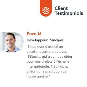 IT Outsourcing Informatique Client Testimonial Enzo 02 FR
