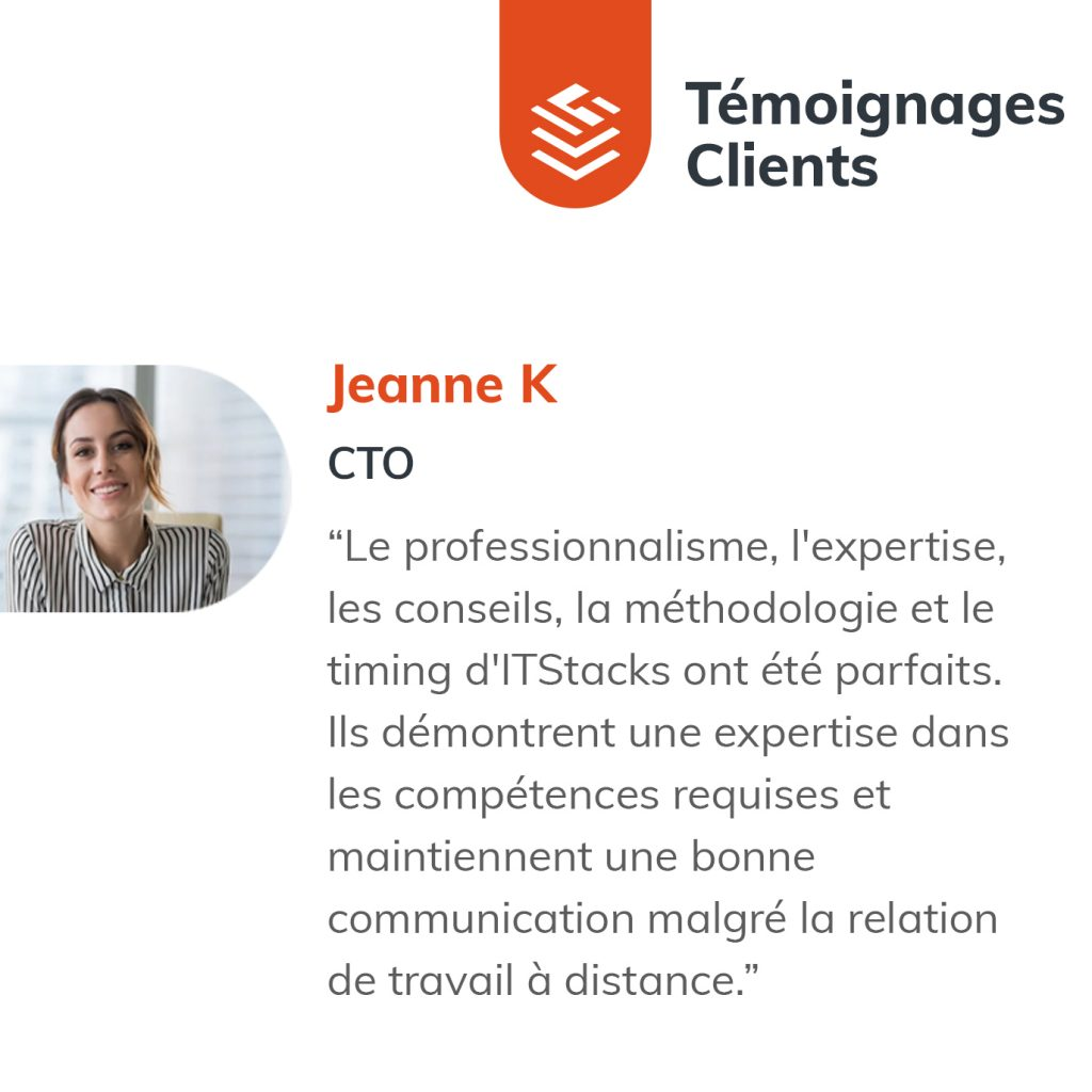 IT Outsourcing Informatique Client Testimonial Jeanne 03 FR