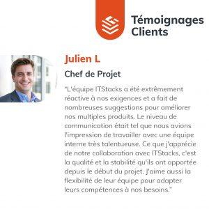 IT Outsourcing Informatique Client Testimonial Julien 05 FR