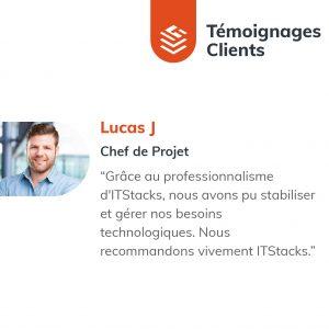 IT Outsourcing Informatique Client Testimonial Lucas 01 FR