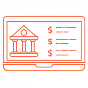 IT Outsourcing Fintech Icon Banking Software