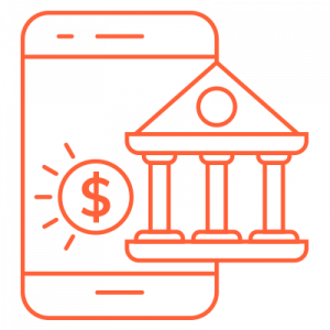 IT Outsourcing Fintech Icon Digital Banking