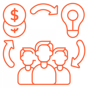 IT Outsourcing Fintech Icon Lending Financing