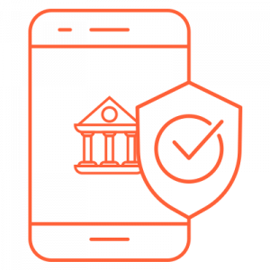 IT Outsourcing Fintech Icon Security Risk